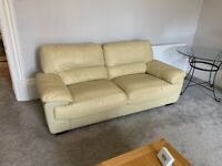 Sofas - 3 Seater and 2 Seater in Faux Leather