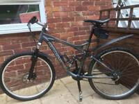 24 geared mountain bike with disc brake dual suspension and lockout forks