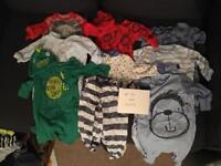 Up to 1 month boys baby clothes bundle