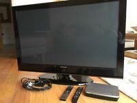 "50"" Samsung HD TV with Humax Freeview 1TB box,"