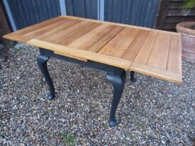 Gorgeous Queen Anne Style Oak Extending Dining Table Painted Farrow & Ball