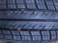 175/65/14 tyre on a steel Vauxhall rim