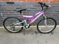 Teenage girls bike