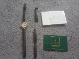 Womens Vintage Gucci Watch and Warranty