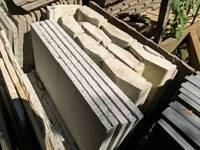 9 concrete coping stones - 900mm x 150mm