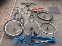 Bmx job lot of parts