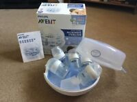 Avent Microwave Steriliser with 5 bottles