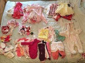 Girls clothing bundle 0-3m