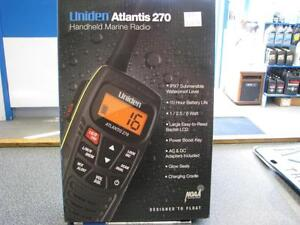 HANDHELD MARINE RADIO - UNIDEN ATLANTIS 270 - NEW IN BOX-GREAT CHRISTMAS GIFT!!