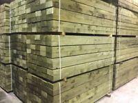 Pack of 50 wooden railway sleepers Pressure Treated