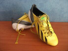 ADIDAS ADIZERO F50 FOOTBALL BOOTS, SIZE FOUR