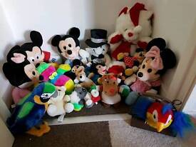 Bundle of Mickey mouse soft toys
