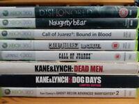 Xbox 360 Games - 8 for £10 inc Dishonored, Naughty Bear, Call of Juarez 1+2+3, Kane&Lynch 1+2