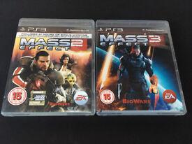 Mass Effect 2 & 3 - PS3 Games