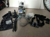 Immaculate GoPro Hero 4 Black + Complete Set of Accessories + 64GB SD card