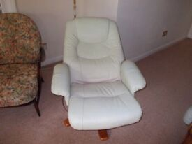Reclining easy chair light green good condition REDUCED