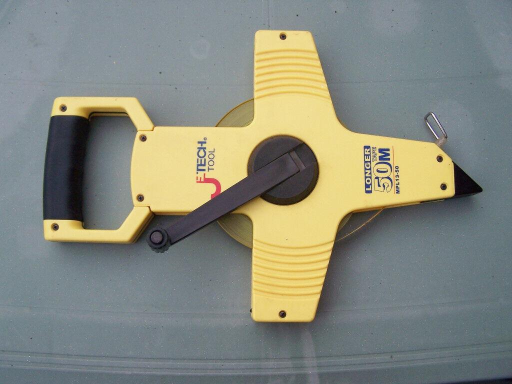 Tape Measure. Surveyors 50 Mtr Re Wind Spool