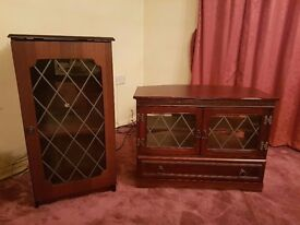 Wooden TV, Hi-Fi Cabinet & Coffee Table