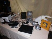 House Clearance. Hand-held vacuum. Chocolate fondue. Electric tin-opener. Radio alarm etc
