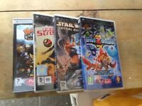 4 PSP GAMES SELLING AS JOB LOT AS DONT GAME ANY MORE