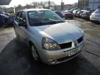 RENAULT CLIO 1390cc DYNAMIQUE 3 DOOR HATCH 2007-07, SILVER, 77K FROM NEW, 1 OWNER