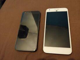 *2 Google pixel phones 32gb Unlocked normal and XL spares or repair