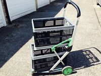 Folding cart trolley