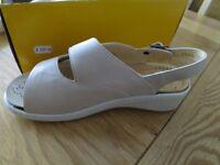 Ladies velcro strap shoes