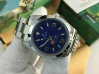 New Swiss Men's Rolex Oyster Explorer Perpetual Automatic Watch, Blue dial