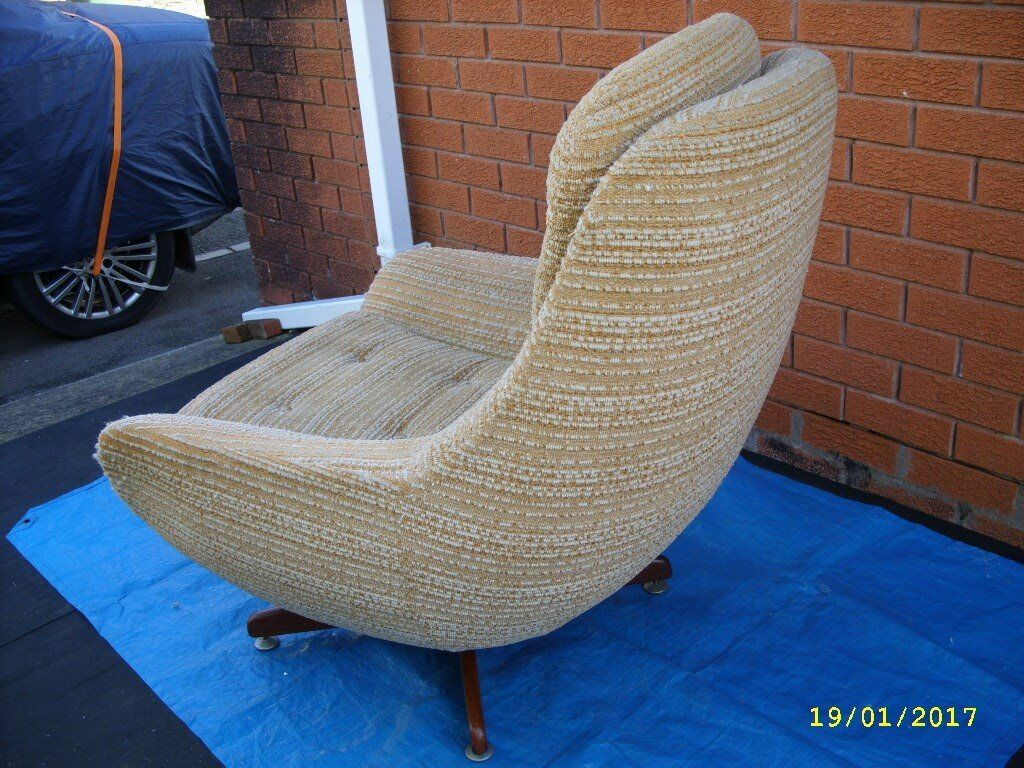 Egg Chair Retro 60 S 70 S Vintage Chair In Original Fabric