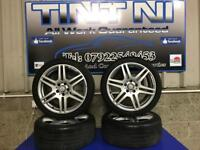 """18"""" MERCEDES AMG ALLOY WHEELS & TYRES STAGGERED REAR"""