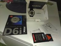 Suunto d6i dive watch, black rubber straps, new battery and o ring.
