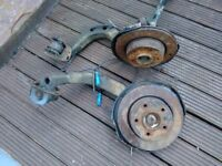 Bmw 3 series e46 320d front and rear hubs, brake discs, front shocks