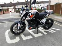 2016 KTM 125 DUKE nice extras just serviced part Exchange considered