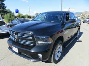 2015 Ram 1500 Crew Sport - leather interior, bluetooth