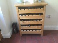 Wine rack/cupboard - oak