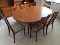 G Plan Table & 6 Chairs.