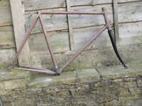 dawes imperial road bike frame 531 531c 59cm - fixed gear wheel fixie