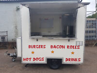 Single axle Catering trailer / Burger Van, measuring 8ft by 6 foot, Ready to Work