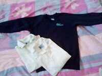 CBEC school uniform, jumper, 2 tshirts