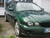 Jaguar X Type Sports Premium Estate 2.0l diesel, Jaguar Racing Green, 131000 miles, MOT end Jan 2018