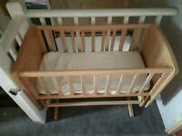 Baby wooden rocking crib / cot