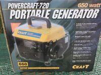 POWERCRAFT-720 PORTABLE GENERATOR 650w NEW NOT USED
