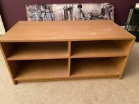 Oak effect TV unit shelves stand * FREE *