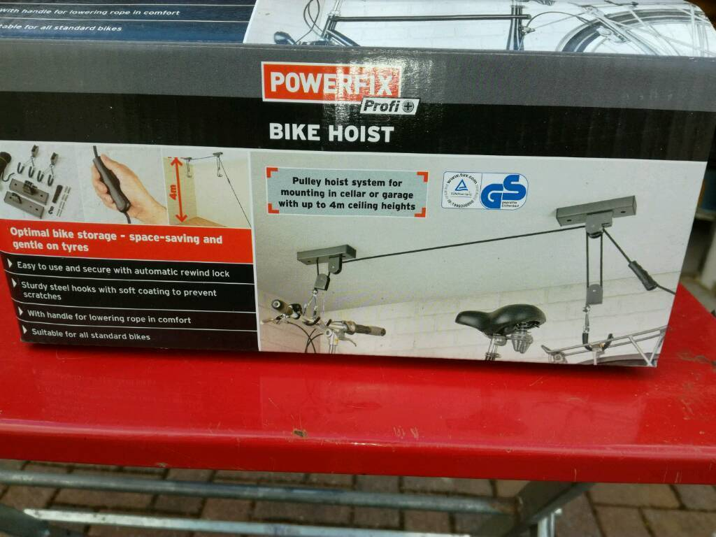 Bike Hoistin Airdrie, North LanarkshireGumtree - Bike Hoist to store a bike off the floor. Never been used still in box. Now surplus to requirements