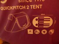 two person lavender/ lilac Gellert pop-up tent