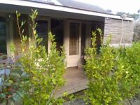 Porthtowan. Beautiful fully insulated, self contained wood cabin by the sea with log burner.