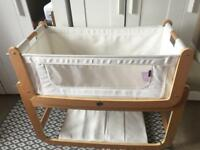 Snuzpod 2 Bedside Crib with extras