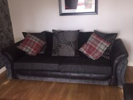4 seater Sofa and matching Large 2 Sofa, matching Curtains, Rug and Pictures