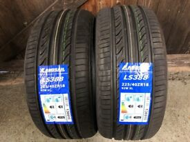2X 225 40 18 92w extra load tyres brand new C C rated